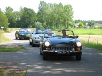 Met MG car club Zwolle