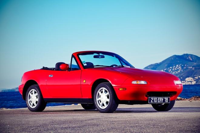 Mazda MX5. Trilogy 1989-1998-2005. Nice. 22-23-24/02/2014.